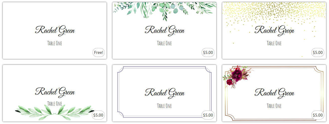 Place Card Me Prices Old
