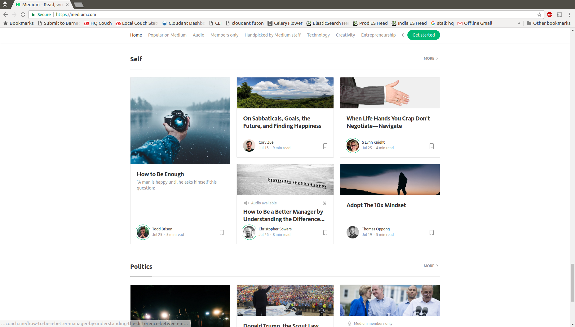 Front page of medium!